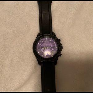 Black Silicone MK watch